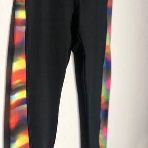 Athletic tie-dye women's leggings